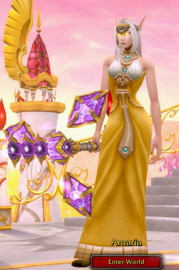 Arcane Mage Yellow Transmog for Amaria - Blood Elf Horde