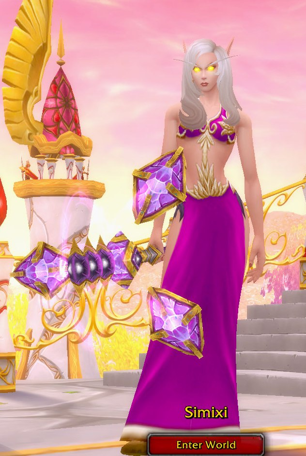 Arcane Mage Pink Transmog for Simixi - Blood Elf Horde