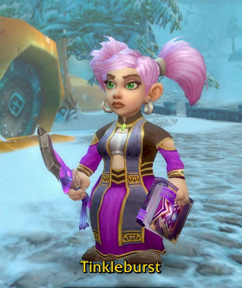 Arcane Mage Purple Transmog for Tinkleburst - Gnome Alliance