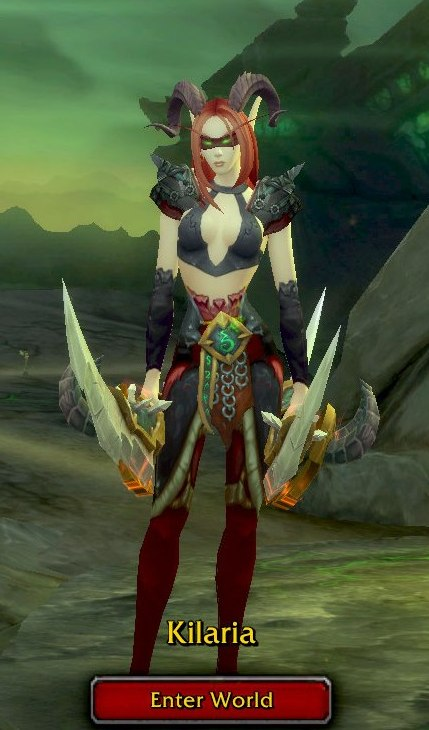 Demon Hunter Red Grey Transmog - Kilaria - Horde
