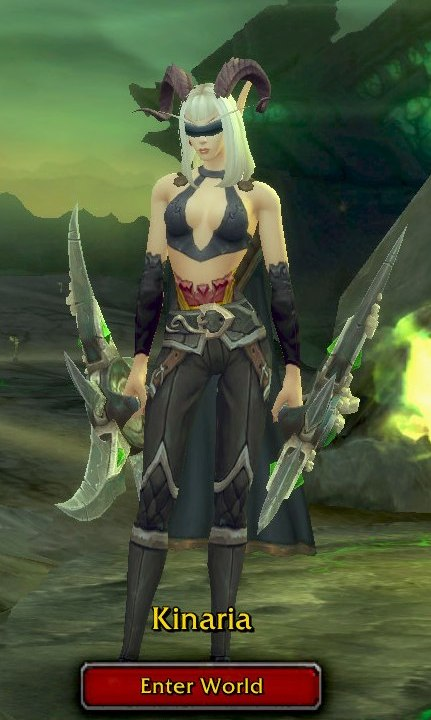 Demon Hunter Grey Transmog - Kinaria - Horde