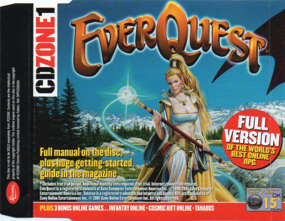Original EverQuest Full Game giveaway disc