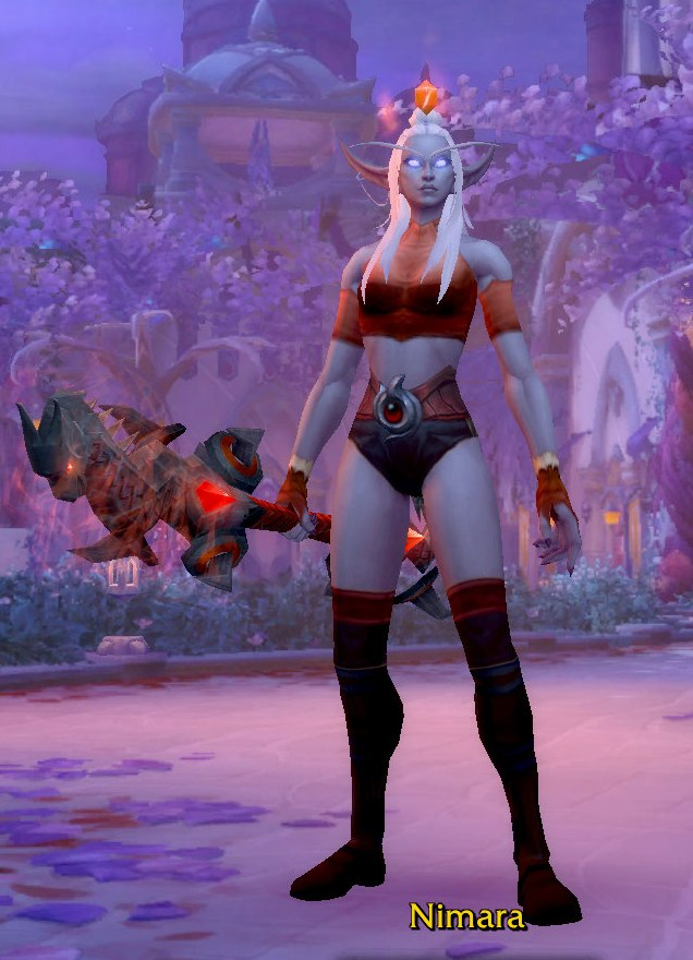 Fire Mage Black Red Transmog for Nimara - Nightborne Horde