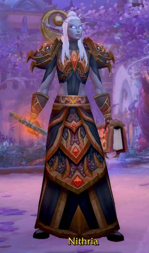 Fire Mage Orange Dark Transmog for Nithria - Nightborne Horde