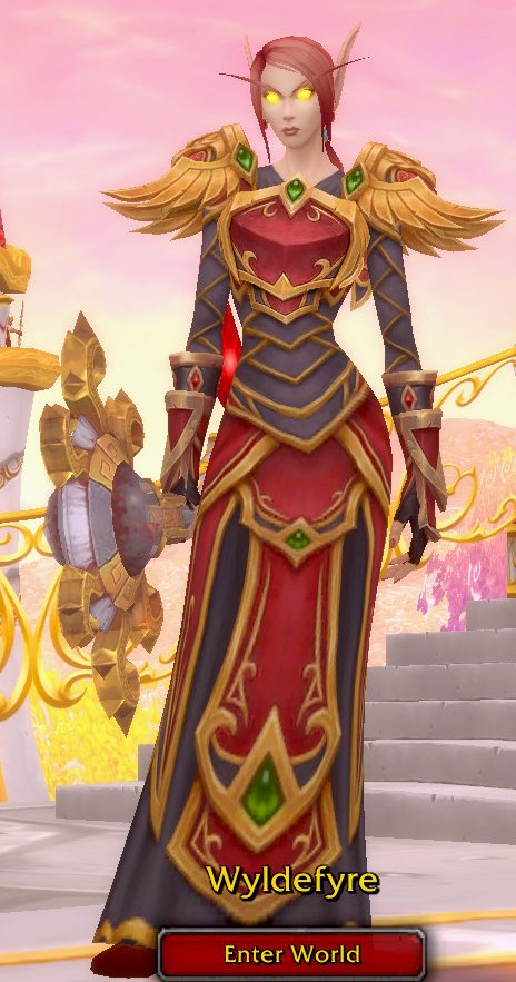 Fire Mage Heritage Transmog for Wyldefyre - Blood Elf Horde