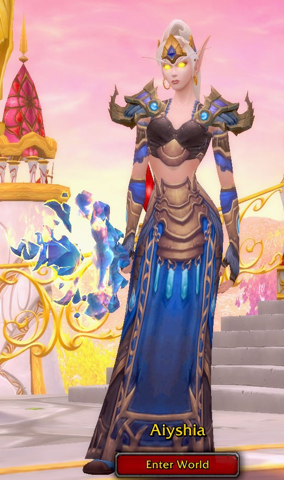Frost Mage Blue Transmog for Aiyshia - Blood Elf Horde
