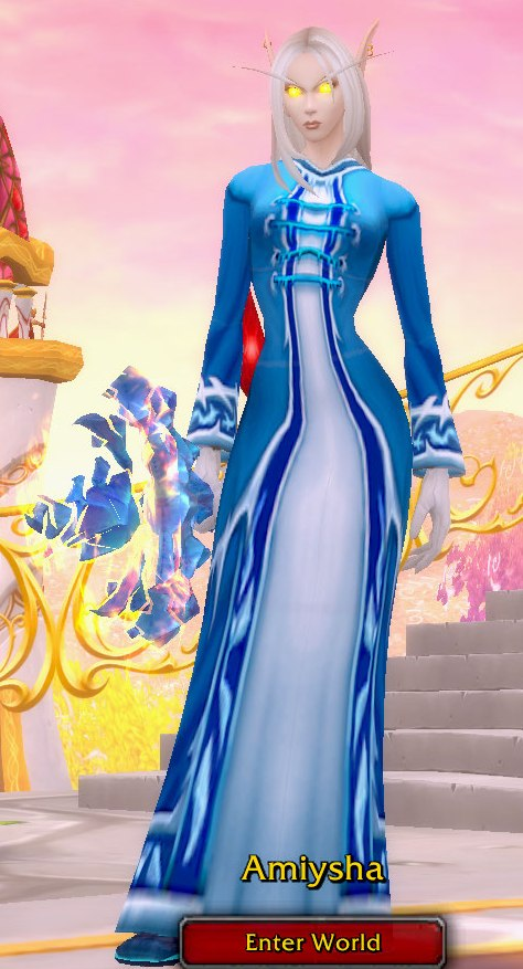 Frost Mage Blue Transmog for Amiyshia - Blood Elf Horde