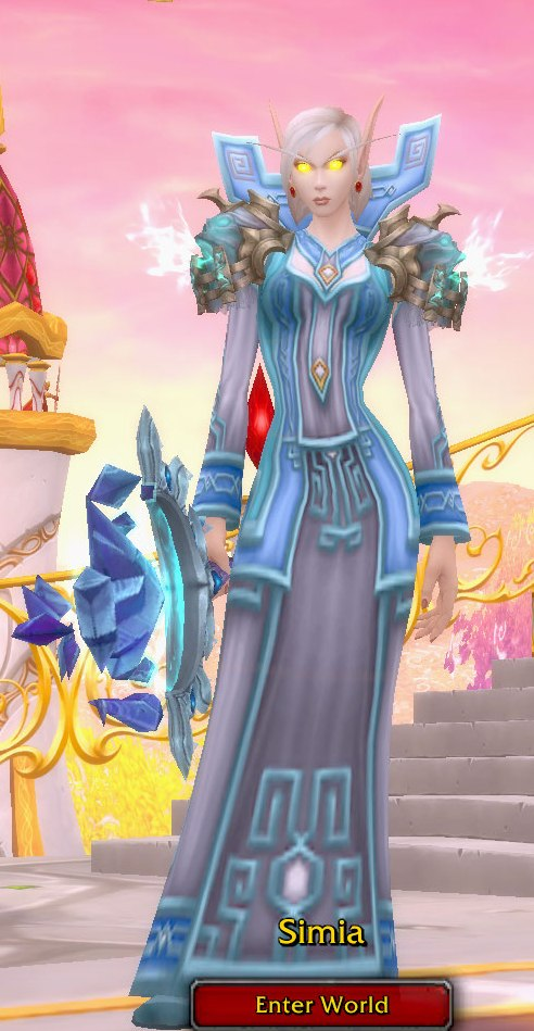 Frost Mage Pale Blue Transmog for Simia - Blood Elf Horde